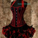 Custom Made Moulin Rouge Burlesque Can Can Costume L