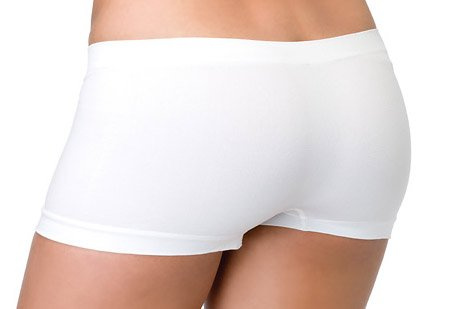O/S~White Seamless Dance Boyshorts Shorts