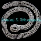 Clear Austrain Crystal Rhinestone Silver Prong Belt