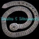 Clear Austrain Crystal Rhinestone Silver Prong Belt