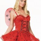 M/L Sexy Love Bug Valentine's Day Ladybug Costume-Full Set w/Wings & Headband
