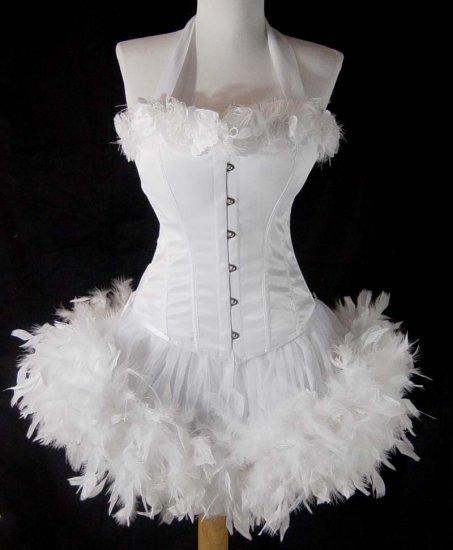 Medium~Custom White Moulin  Burlesque Can Can Costume