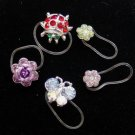 Genuine Swaroviski Crystal Invisible Stretch Toe Ring Lot Ladybug Butterfly Flower