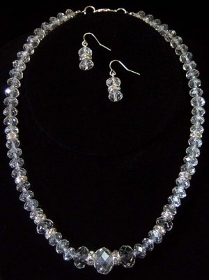 Swarovski Crystal Beaded Necklace & Earrings