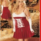 ON SALE!! 1X- Sexy Santa Clause Christmas Dress Costume Corset Shirley of Hollywood