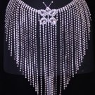 Crystal Rhinestone Fringe Skirt Belt Belly Dance Costume