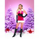 ON SALE!!  M/L Sexy Red Velvet Christmas Santa Clause Costume Dress Leg Avenue