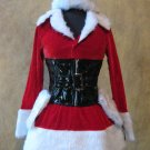 Sexy Deluxe Mrs. Santa Clause Christmas Holiday Complete Dress Costume