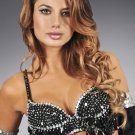 S/M Black Sequin and Beaded Bra