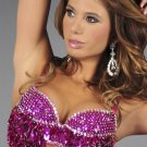S/M Fuchsia Sequin and Beaded Bra