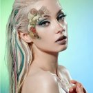 Exotic Xotic Eyes Theatrical Glitter & Crystal Eye Tattoo Mermaid 3D Shell Mask & Lashes