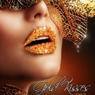 Exotic Xotic Eyes Theatrical Glitter & Crystal GOLD Lip Kisses Stick on Lip Tattoo