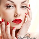 Exotic Xotic Eyes Theatrical Glitter & Crystal RED Lip Kisses Stick on Lip Tattoo