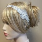 Pearl & Rhinestone Crystal Stretch Headband Bridal Wedding Hair Clip
