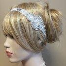 Pearl & Rhinestone Crystal Stretch Headband Bridal Wedding Hair Clip