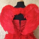 Small/Medium Red Feather Angel Wings