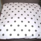 Pink and Brown Polka Dot Toss Pillow