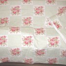 Green Gingham Floral 2pc Nursery Set