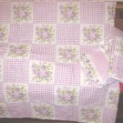 Lavender Gingham Floral 2pc Nursery Set