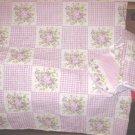 Lavender Gingham Floral 2pc Nursery Set