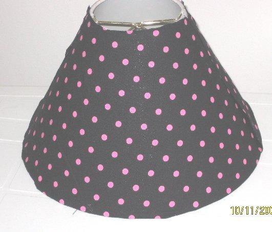 Black and Pink Polkat Dot Lamp Shade
