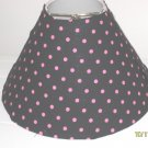 Black and Pink Polkat Dot Lamp Shade