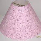 Pink with Black Polka Dot Lamp Shade
