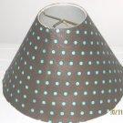 Brown and Blue Polka Dot Lamp Shade
