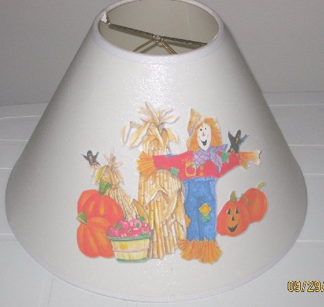 Fall Scarecrow Lamp Shade