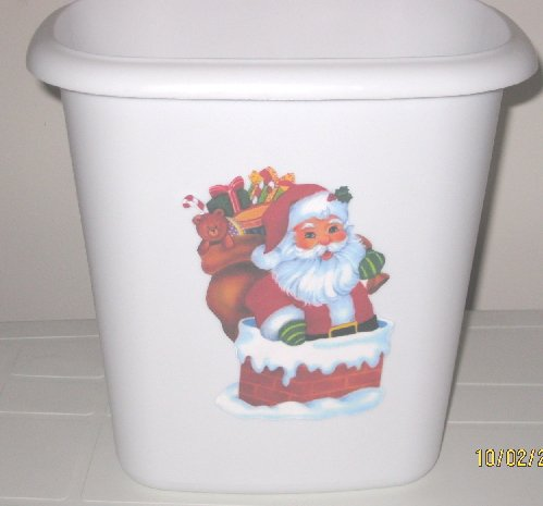 Santa Trash Can