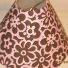 Brown and Pink Flowers Lamp Shade
