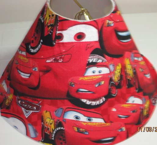 Disney Pixar Cars Red Lamp Shade