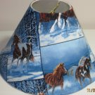 Horses in Snow Lamp Shade