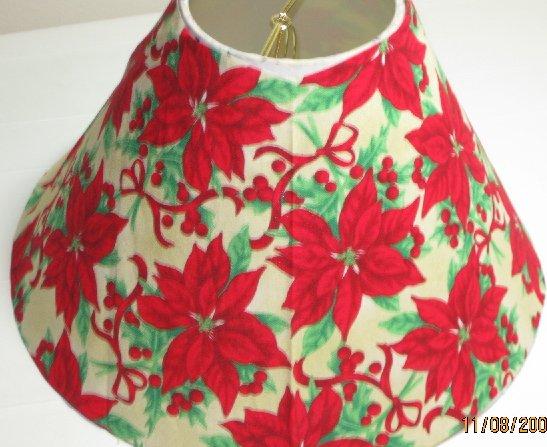 Christmas Poinsettia Lamp Shade