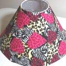 Zebra & Tiger Print Pink Hearts lamp Shade