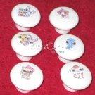 Littlest Pet Shop Plastic Drawer Knob - set of 6
