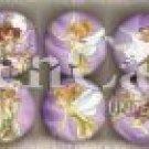 Tinkerbell Lavender Plastic Drawer Knob - set of 6