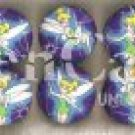 Tinkerbell purple Plastic Drawer Knob - set of 6