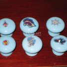 Pokeman Blue Ceramic Drawer Knob - set of 6