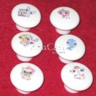 Littlest Pet Shop Plastic Drawer Knob - set of 6