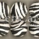 Zebra Print Drawer Knob - set of 6