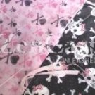 Gothic Princess Skulls 2 pc Nursery Set in pink or black