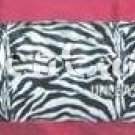 Zebra and Hot Pink Print LG Body Pillow