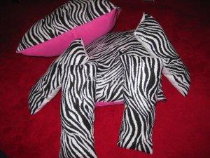Zebra and Hot Pink Set of Toss Pillows