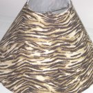 Brown Zebra Print Lamp Shade
