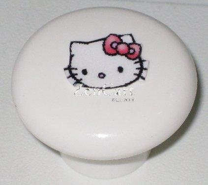 Hello Kitty Plastic Drawer Knob