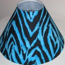 Zorina Zebra and Turquoise lamp Shade
