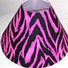 Zorina Zebra and Pink lamp Shade