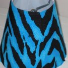 Zorina Zebra Turquoise Night Light Lamp Shade