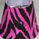 Zorina Zebra Hot Pink Night Light Lamp Shade